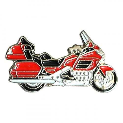 Red Cruiser Motorbike Metal Enamel Lapel Pin Badge
