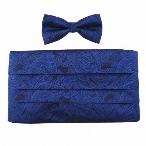 Cummerbund Skærf Sæt Royal Blue