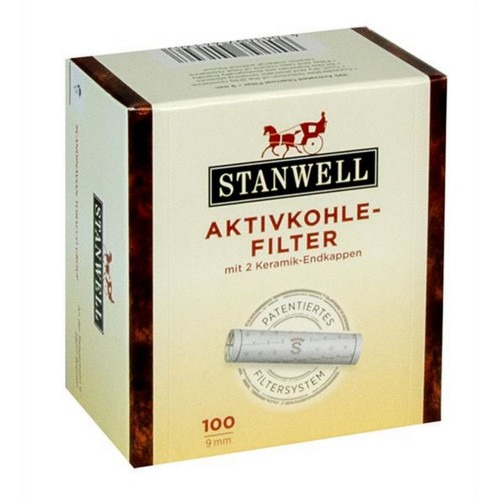 100 stk Stanwell 9 mm patenteret pibe filter