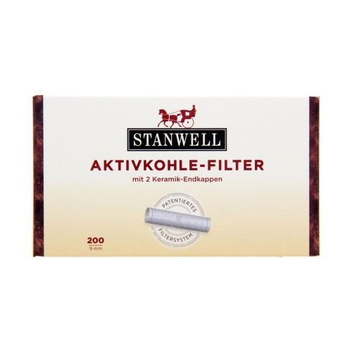 200 stk Stanwell 9 mm patenteret pibe filter