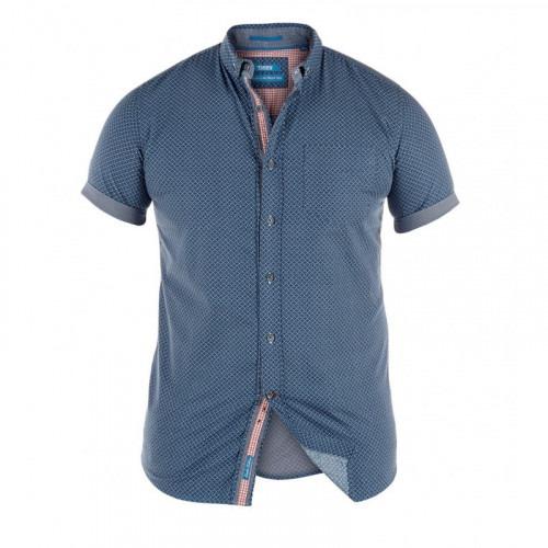 Blå kortærmet skjorte