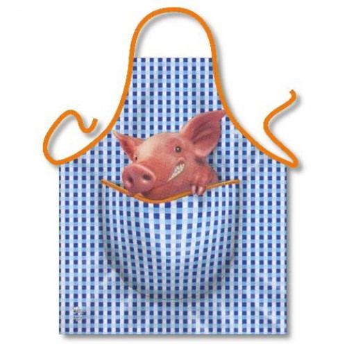 Forklæde med gris i lommen