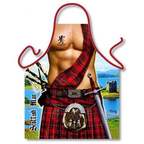 Skotte med Skotskternet Kilt Forklæde