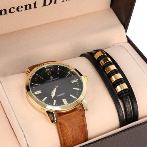 Armbåndsur og læderarmbånd