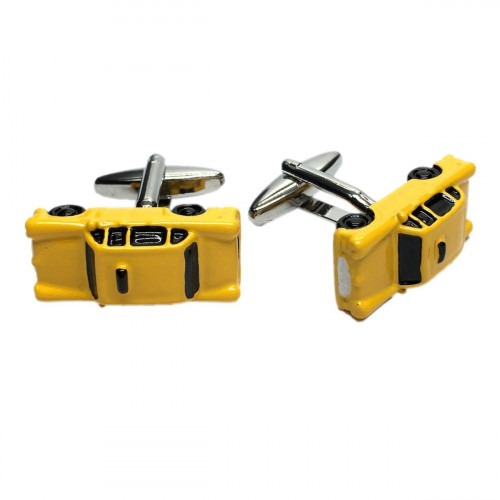 Yellow American Taxi Cab Cufflinks