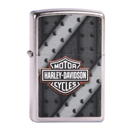 Metal Rivet Harley Davidson Zippo Lighter