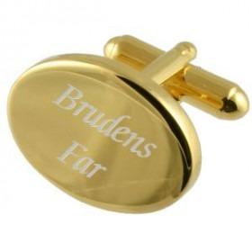 Brudens Far Guld Manchetknapper med Gravering