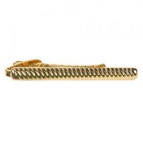 Slipseholder Guld Ribbet Design
