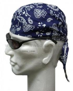 Marineblå Headwrap Bandana