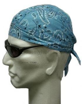 lyseblå paisley head wrap bandana