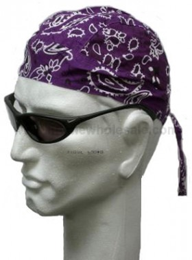 Purple Paisley Head Wrap Zandana Bandana