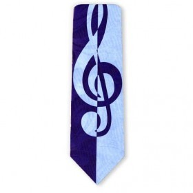 Musik G nøgle slips i blåt