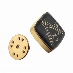 Revers Pin Frimurer Guld med Sort