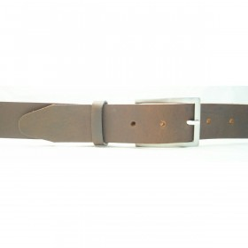 100% tykt classic læder bælte i dark brown