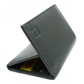 Grå RFID Læder Tegnebog