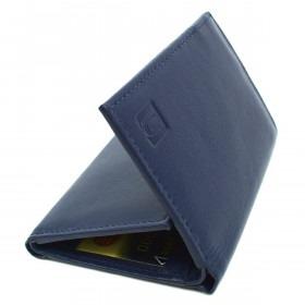 Navy RFID Læder Tegnebog