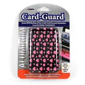 Aluminium Card-Guard Kortholder - Hearts