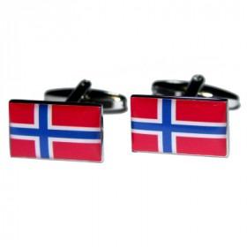 Norges Flag Mansjettknapper