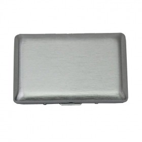 Duffy Brushed Silver Card Case