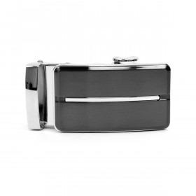 Auto Slide & Lock Bæltespænde - Sølv og Sort