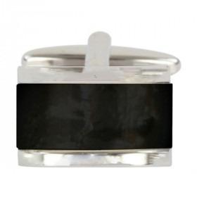 Moderne Onyx Sølv Manchetknap