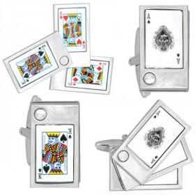 Foldud Poker Kort Manchetknapper