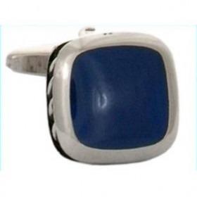 Manchetknapper Tyk Ribbet Side Lapis Lazuli