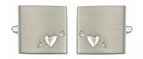 Arrow and Heart Cufflinks