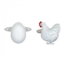 Hønen og Ægget Manchetknapper