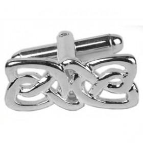 Manchetknapper Keltisk Design Sølv Slim