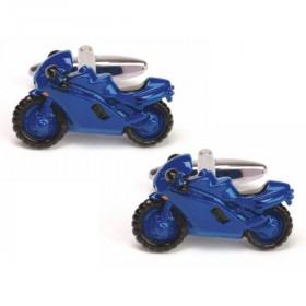 Blå Super Bike Manchetknapper