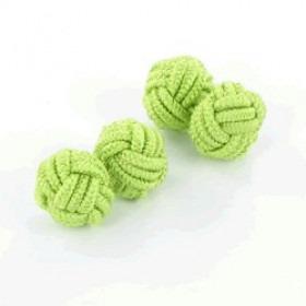 Lime Grønne  Silke Knude Manchetknapper (2 stk)