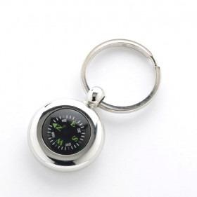 Nøglering Kompas Sølv