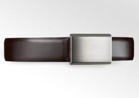 Bælte Business Modern 100-110 cm Mørkebrun