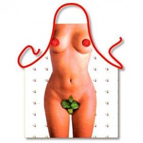 Forklæde med næsten nøgen kvinde :-)