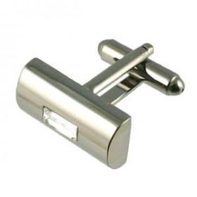 Moderne Gun Metal Manchetter