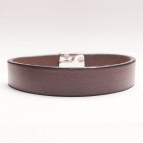 Dansk fabrikeret mørke brunt læder armbånd