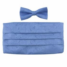 Cummerbund Skærf Sæt Babyblå Farvet