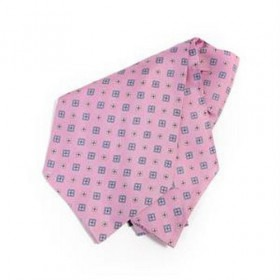 Pink Blomstret Ascot Cravatte
