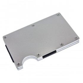 Aluminium STRONG RFID kortholder i Satin Sølv