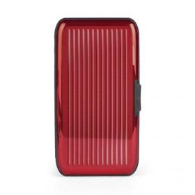 Card-Guard Tegnebog Kortholder - Rød Aluminium