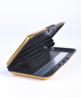 Aluminium Card-Guard Tegnebog Kortholder Gold