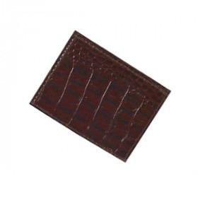 Seddelholder med kortholder i Brunt Crocco Læder