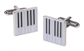 Piano Keyboard Manchet Knapper