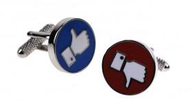 Facebook Thumbs Up & Down Cufflinks