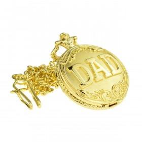 Guld lommeur til far med kæde
