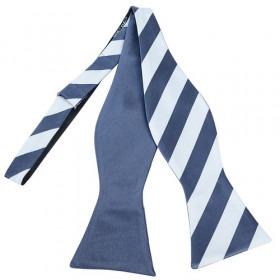 2 Farvet Stripes Free Style Bow Tie Black