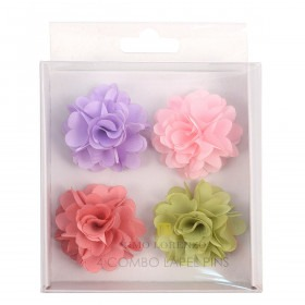 4 flower lapel pins