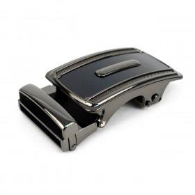 Auto Slide & Lock Bælte Spænde - Gun Metal og Sort