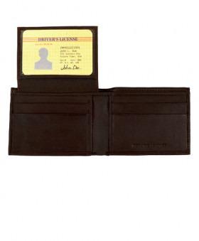 Bi-Fold Tegnebog i Mørkebrunt Læder